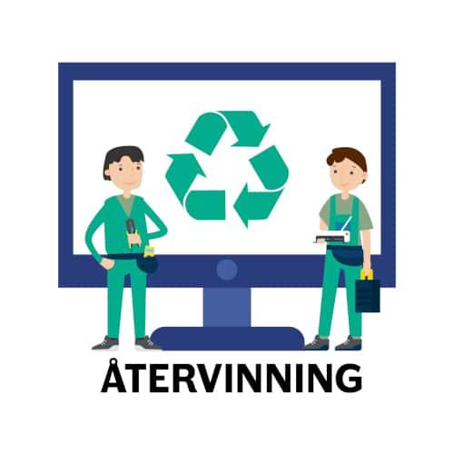 installera nätverk hemma - återvinning